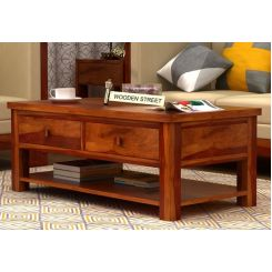 Dulcie 4 Drawer Center Table (Honey Finish)