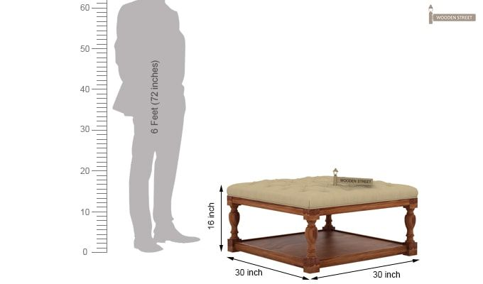 Elenore Coffee Table (Teak Finish)-5