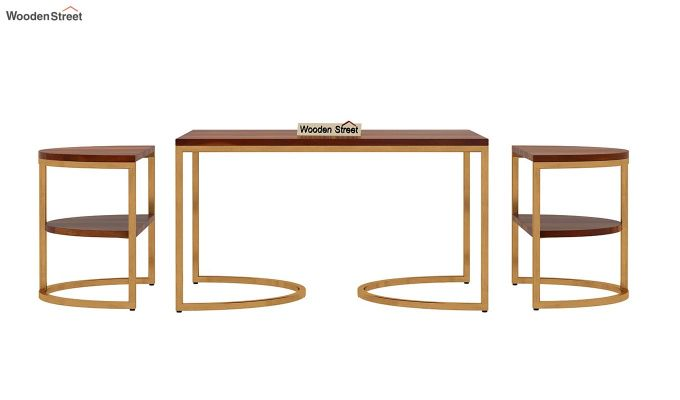 Eros Coffee Table (Honey Finish)-5
