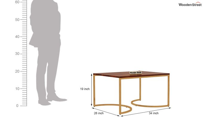 Eros Coffee Table (Honey Finish)-12