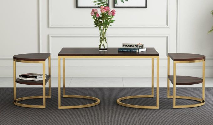 Eros Coffee Table (Walnut Finish)-2