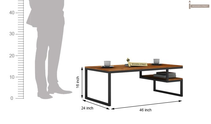 Eve Loft Coffee Table (Teak Finish)-5