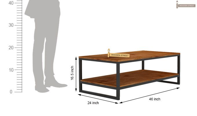 Even Loft Coffee Table (Teak Finish)-5