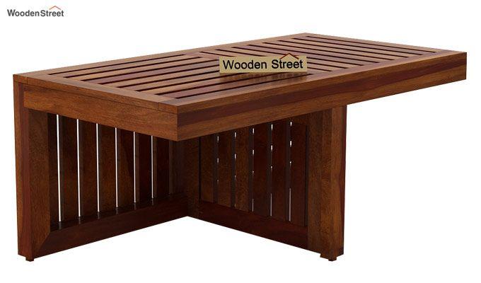 Farrow Center Table With Stools (Honey Finish)-4