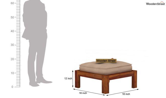 Farrow Center Table With Stools (Honey Finish)-9