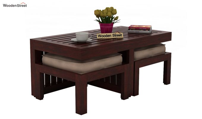 Farrow Center Table With Stools (Mahogany Finish)-3