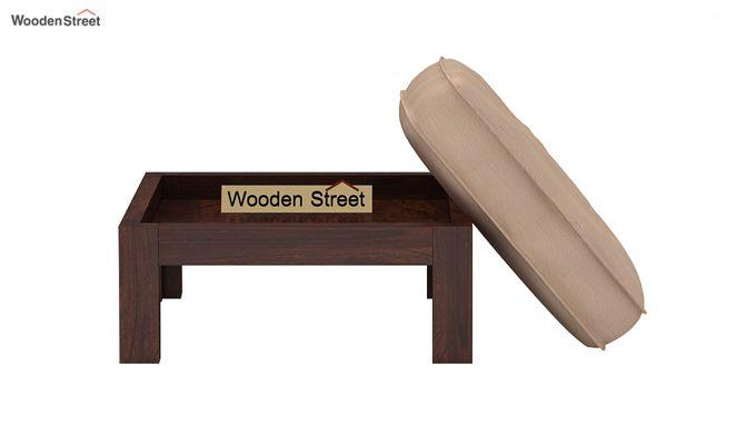 Farrow Center Table With Stools (Walnut Finish)-7
