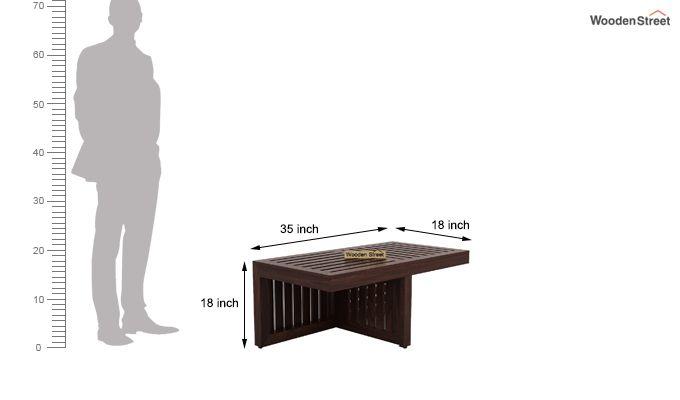 Farrow Center Table With Stools (Walnut Finish)-8