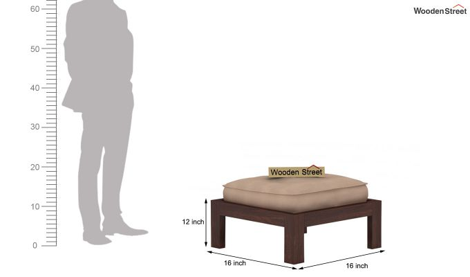 Farrow Center Table With Stools (Walnut Finish)-9