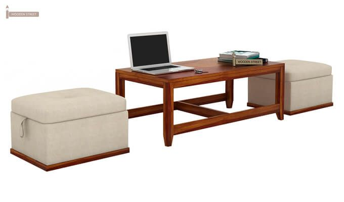 Hardley Center Table (Honey Finish)-2