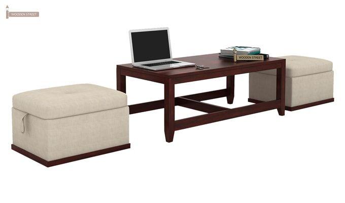 Hardley Center Table (Mahogany Finish)-1