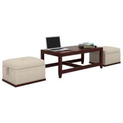 Hardley Center Table (Mahogany Finish)