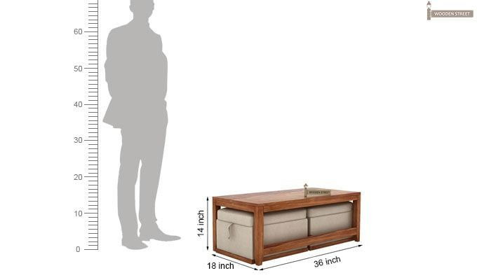 Hardley Center Table (Teak Finish)-9
