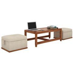 Hardley Center Table (Teak Finish)