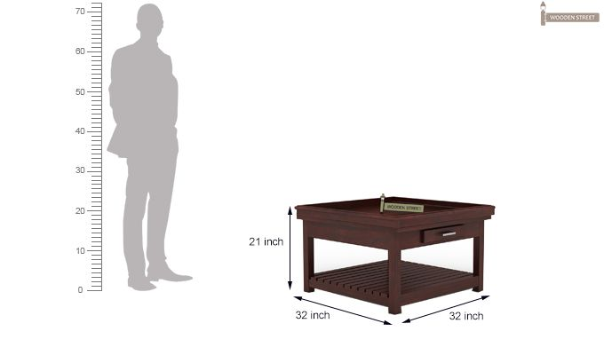 Harris Coffee Table (Mahogany Finish)-5