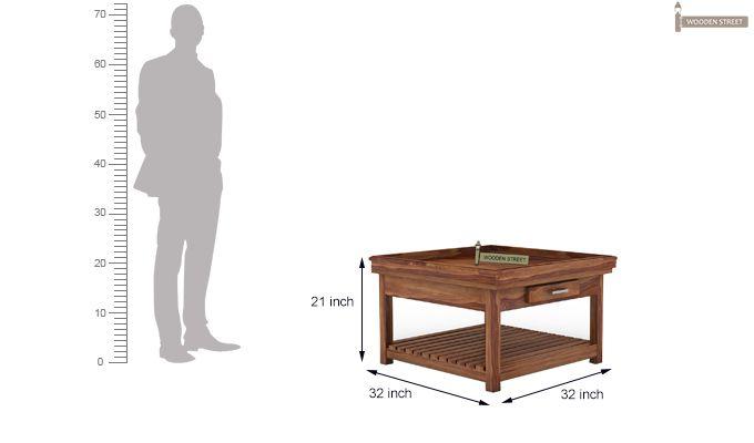 Harris Coffee Table (Teak Finish)-5