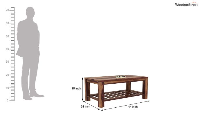 Harrison Coffee Table (Teak Finish)-5