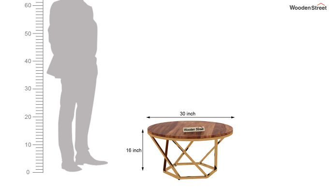 Hexo Coffee Table (Teak Finish)-3