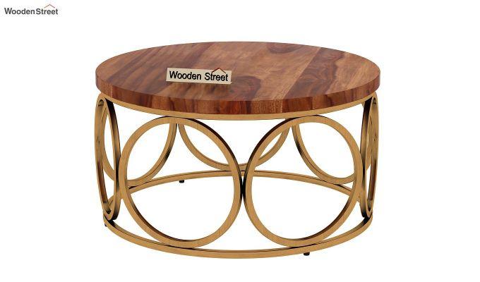 Hoop Coffee Table (Teak Finish)-4