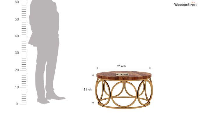 Hoop Coffee Table (Teak Finish)-5