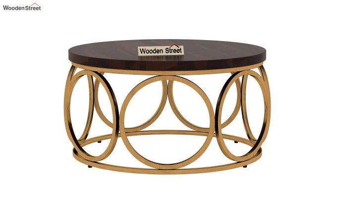 Hoop Coffee Table (Walnut Finish)-3
