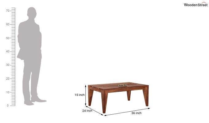 Hugo Tea Table (Teak Finish)-5
