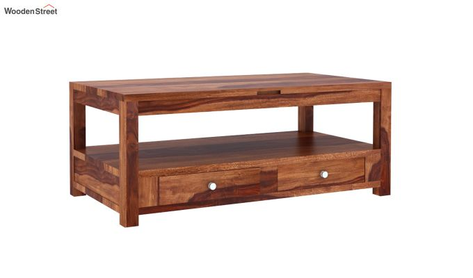 Jack Coffee Table with Lift Top (Honey Finish)-3