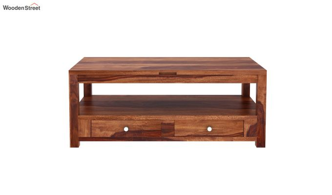 Jack Coffee Table with Lift Top (Honey Finish)-4