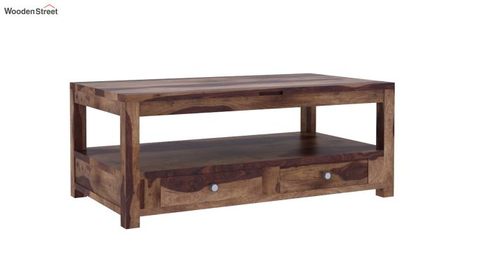 Jack Coffee Table with Lift Top (Teak Finish)-4