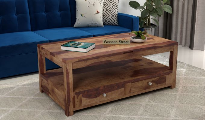 Jack Coffee Table with Lift Top (Teak Finish)-1