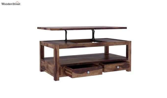Jack Coffee Table with Lift Top (Teak Finish)-3
