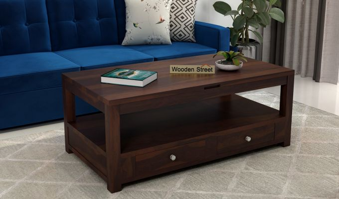 Jack Coffee Table with Lift Top (Walnut Finish)-1