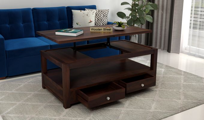 Jack Coffee Table with Lift Top (Walnut Finish)-2