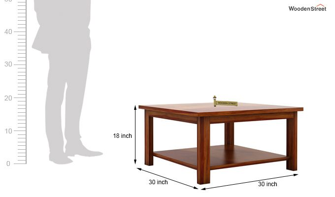Lanbro Tea Table (Honey Finish)-5