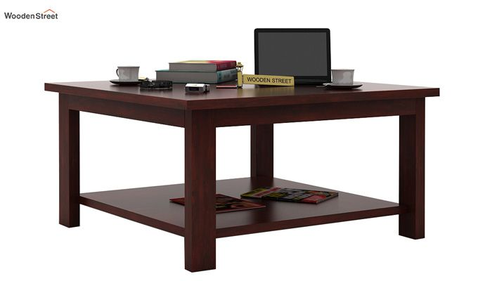 Lanbro Tea Table (Mahogany Finish)-1
