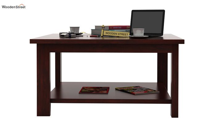 Lanbro Tea Table (Mahogany Finish)-2