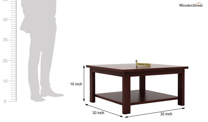 Lanbro Tea Table (Mahogany Finish)-5