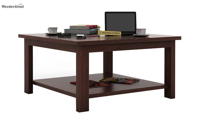 Lanbro Tea Table (Walnut Finish)-1
