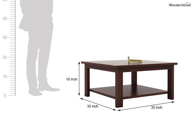 Lanbro Tea Table (Walnut Finish)-5
