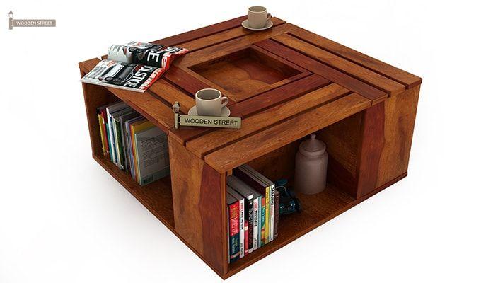 Lynet Coffee Table (Honey Finish)-2