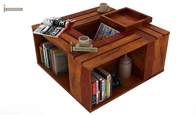 Lynet Coffee Table (Honey Finish)-7