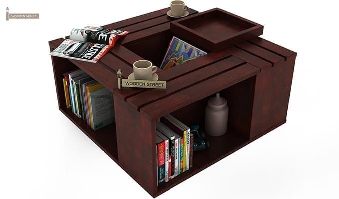 Lynet Coffee Table (Mahogany Finish)-8