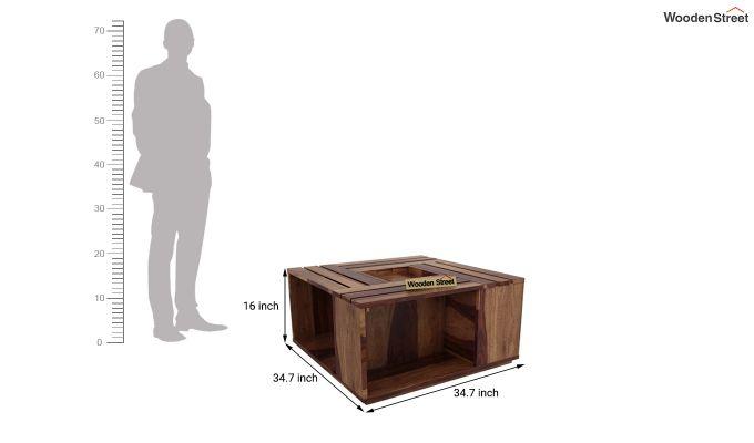 Lynet Coffee Table (Teak Finish)-5