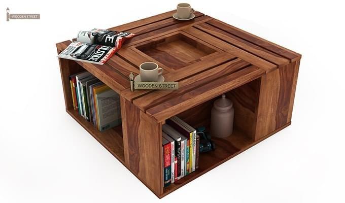 Lynet Coffee Table (Teak Finish)-6