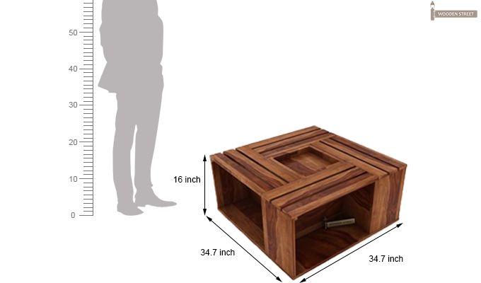 Lynet Coffee Table (Teak Finish)-9