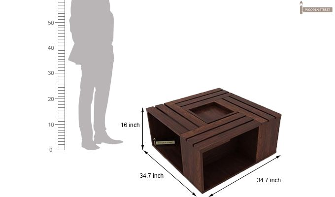 Lynet Coffee Table (Walnut Finish)-9