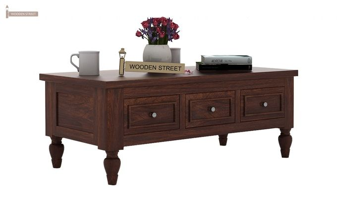 Maisie 6 Drawer Tea Table (Walnut Finish)-1