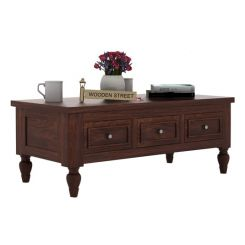 Maisie 6 Drawer Tea Table (Walnut Finish)