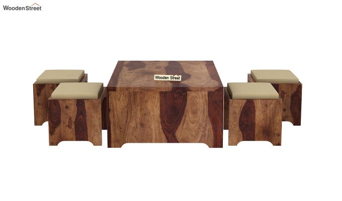 Mel Tea Table (Teak Finish)-7
