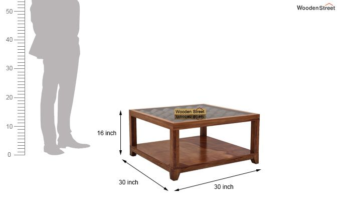 Morse Coffee table (Teak Finish)-6